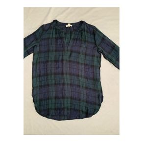 Ann Taylor LOFT Plaid The Softened Shirt